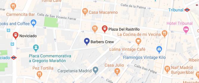 Mapa Transporte Público Madrid Central Barbería Barbers Crew